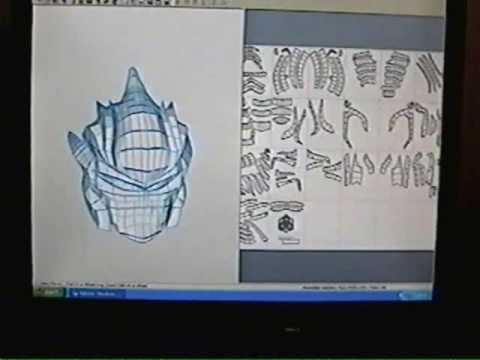 How to build Halo armor Part 1: Pepakura Step 1