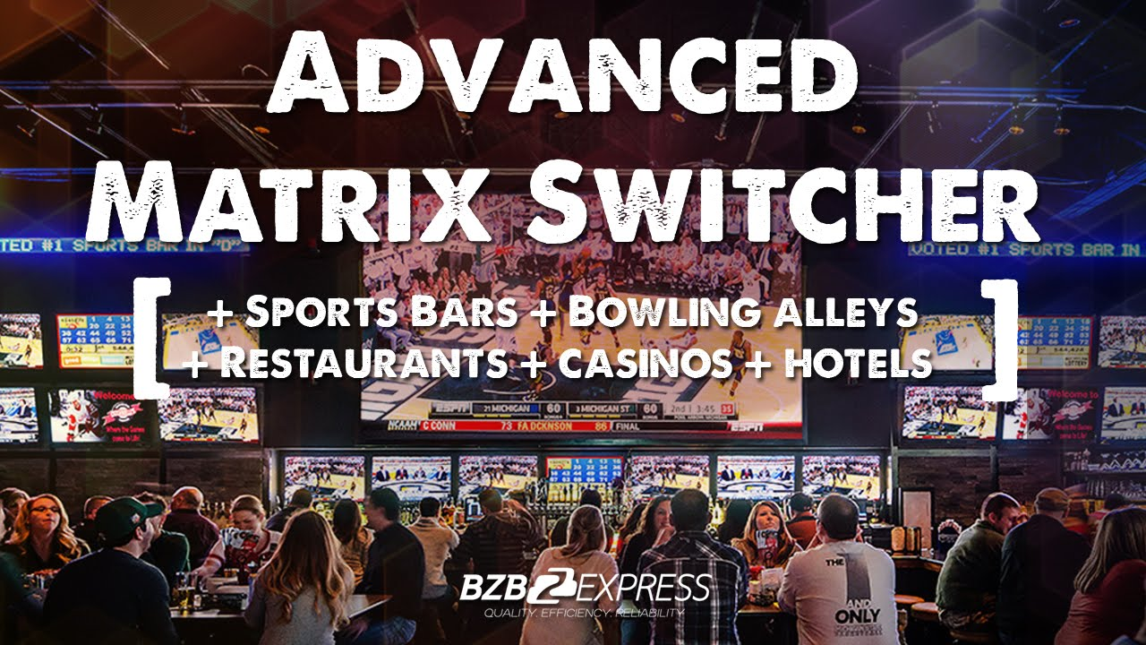 Supercharge Any Sports Bar With A Matrix Switcher Youtube Cat5 Wiring On Av Switches Audio Video Switch