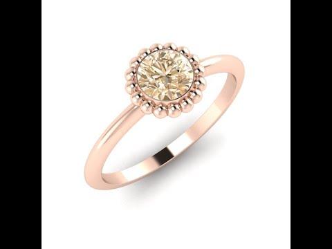 Alto Rose Gold & Diamond Engagement Ring