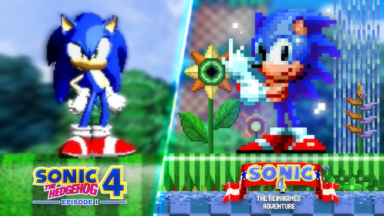 Sonic 4 Episode 1, but Reimagined in 2D