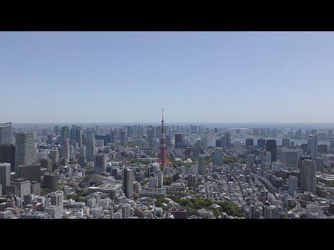 [4K] Japan Tokyo Roppongi Hills sky deck (Tokyo City View 2017) Mt.Fuji