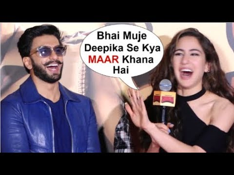 Sara Ali Khan's On FLIRTING With Ranveer Singh After WEDDING To Deepika Padukone At Simmba Trailer Mp3