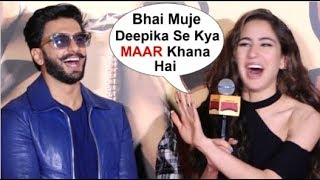 Sara Ali Khan's On FLIRTING With Ranveer Singh After WEDDING To Deepika Padukone At Simmba Trailer