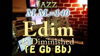 E Diminished (E G Bb) - Jazz - M.M.=140 - One Chord Backing Track