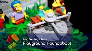 Lego Tutorial - Building Playground Roundabout From The Simpsons