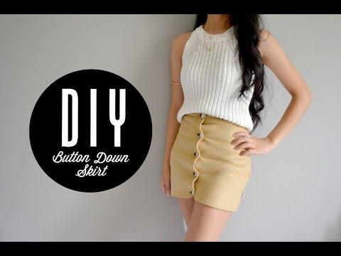 DIY Vest into Button Down Skirt | Injoyy - YouTube