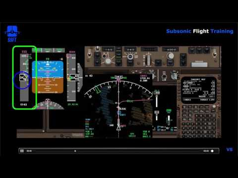 EFIS - Primary Flight Display (PFD) - Airspeed Display (iFly 747-400)