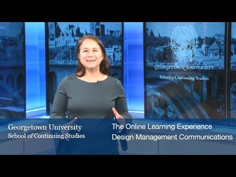 The Online Learning Experience: Design Management & Communications