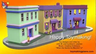 Wood Toy Plans - Easy To Build New Orleans Doll House