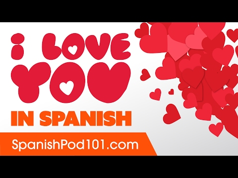 How do say i love in spanish