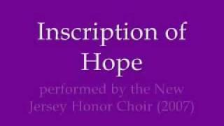 Inscription of Hope- NJ Honor Choir (2007)