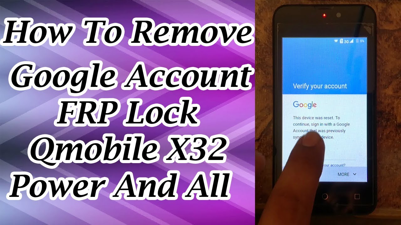 How To Bypass Google Account Qmobile X32 Power Remove FRP Lock In