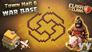INCREDIBLE Town Hall 6 (TH6) WAR Base! BEST Clash of Clans TH6 DEFENSE Layout