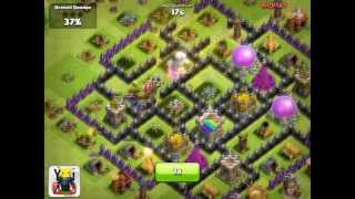 Clash of Clans [Defense] P.E.K.K.A's, Triple Spells, Barbarian King, & Lvl 5 Troops