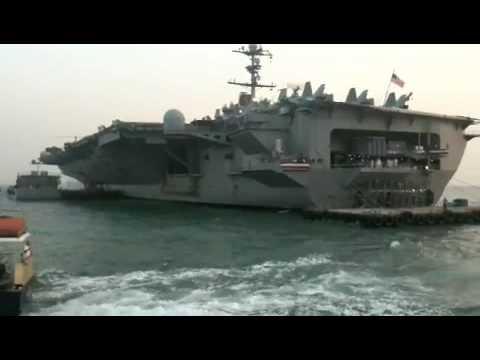 USS GEORGE WASHINGTON STRIKE FLEET FIRST VISIT TO HONG KONG