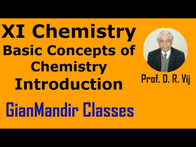 XI Chemistry - Basic Concepts of Chemistry - Introduction by Ruchi Ma'am