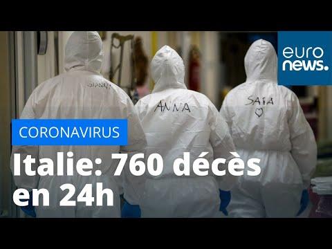 Coronavirus en Italie: 760 décès en 24h, pratiquement 14 000 depuis le début de l'épidémie