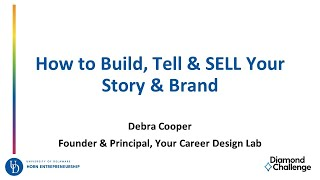 How to Craft, Build, Tell and SELL Your Story and Brand
