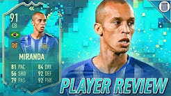 91 FLASHBACK MIRANDA PLAYER REVIEW! IS HE WORTH UNLOCKING? - FIFA 20 ULTIMATE TEAM