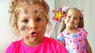 ديانا هي الأميرة سندريلا. قصة مضحكة للأطفال