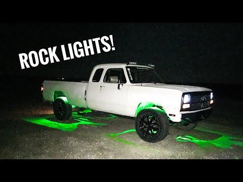 Installing LED Rock Light's on 1st Gen Cummins!!!