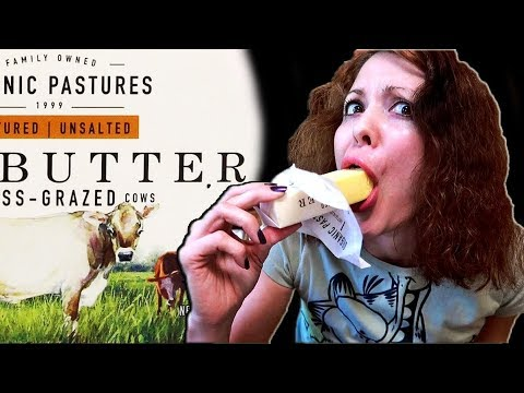 Eating RAW BUTTER From PASTURE RAISED Cows - Grass Fed Butter