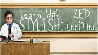 LEARN WITH STYLISH | IN DEPTH GAME COMMENTARY - ZED VS FUNNELING STRATEGY