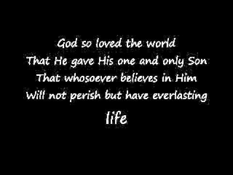 Jaci Velasquez - God So Loved The World Lyrics Video