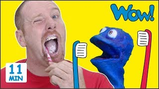 Steve, Brush your Teeth + MORE Stories for Kids from Steve and Maggie with Bobby   Wow English TV