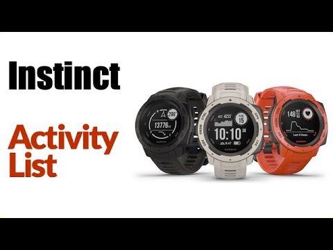Garmin Instinct - How To Manage Activity List (favorites