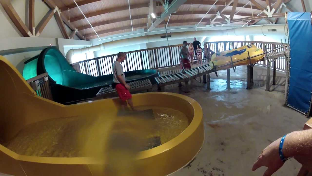 Riding the Tornado at the Great Wolf Lodge  YouTube