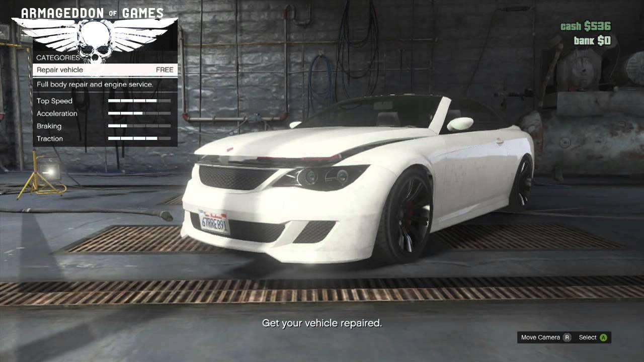 GTA 5 Online - Car Customization - Ubermacht Zion Cabrio Coupes ...