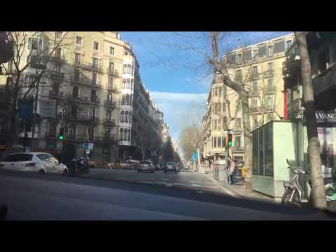 Drive around Barcelona, Spain