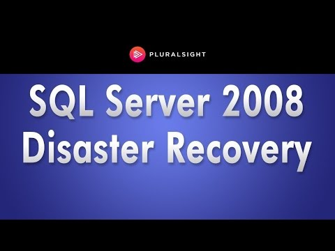 SQL Server 2008 Tutorial - Disaster Recovery Training