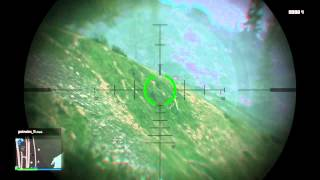 Grand Theft Auto V: Nasty Free Aim Snipe Shot