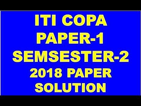 iti copa ncvt semester 2 paper 1 solution february exam 2018 youtube