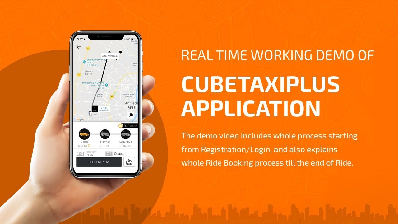 Uber Clone | Uber Taxi App Clone - V3Cube Video 2019 Version