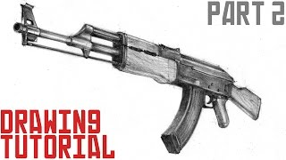 How to draw AK-47 in 3d (Teil 2)