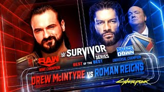 WWE Survivor Series 2020 Full Match Card