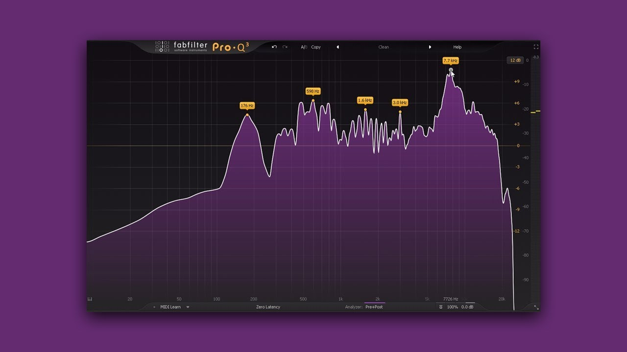 Fabfilter pro-q 3 equalizer plug-in.