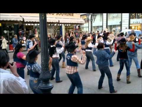 Linedance Flash Mob - 23.03.12. - Budapest -- Like A Star by Dj Ötzi feat. Bellamy Brothers