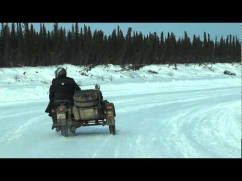 Entering Ice Road By Motorbike