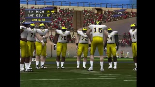 Ohio State vs Michigan: NCAA College Football 2K2: Road to the Rose Bowl Dreamcast