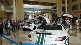 Dubai Police Supercar Fleet - One 77, Aventador, SLS, & Bentley CGT!!