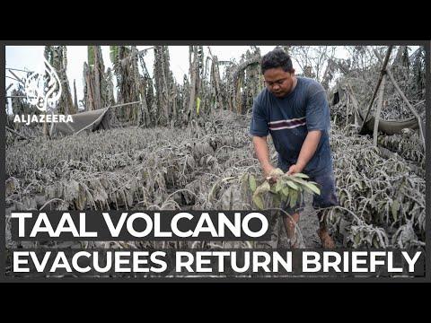 Philippines volcano: Evacuees