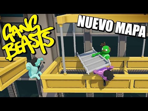 Nuevo escenario Online - GANG BEASTS - EL INFIERNO!!!   Gameplay Español