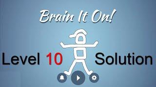 brain it on level 10 solution remove the cap 3 stars