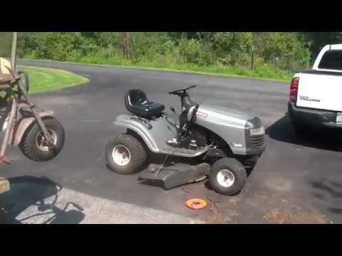 Free Craftsman Lt2000 Tractor How To Adjust A Floating Deck