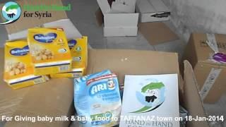 Distribution baby food & baby milk in TAFTANAZ, IDLIB, SYRIA