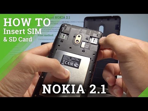 How To Insert SIM And SD In NOKIA 2.1 - Install Nano SIM / Set Up Micro SD